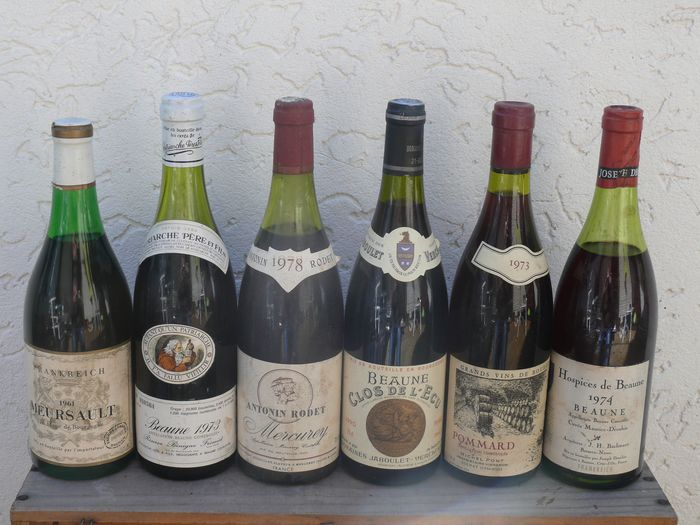 Lote mixto -  Mixed lot of red burgundy wines - Borgoña - 6 0,73L