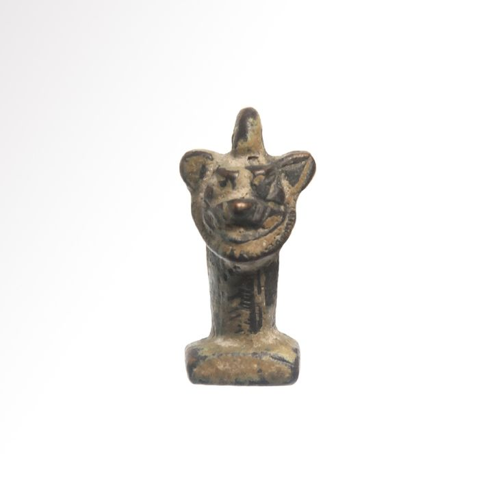 Assyrian Bronze Double PAZUZU Head Pendant Seal