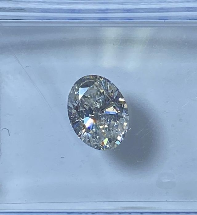1 pcs Diamante - 0.59 ct - Ovale - G - SI1