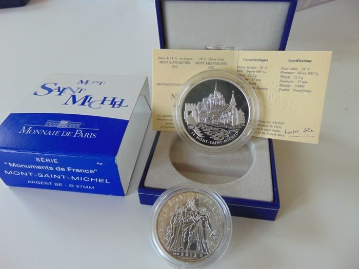 the three Mountains-Mont St 22,2 Size Silver PP France Michel 10 Euro 2020