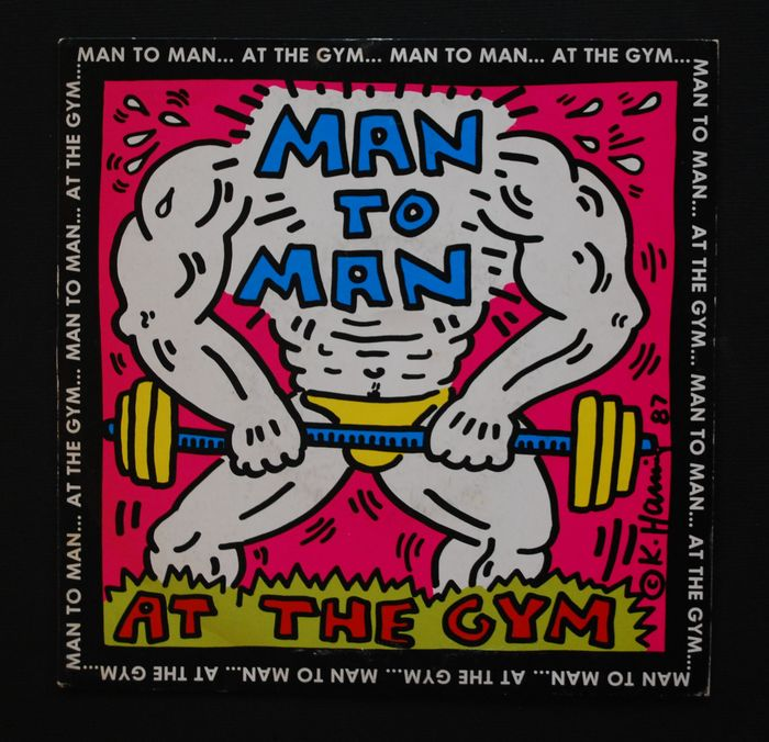 Man To Man - At the Gym - Cover designed by Keith Haring