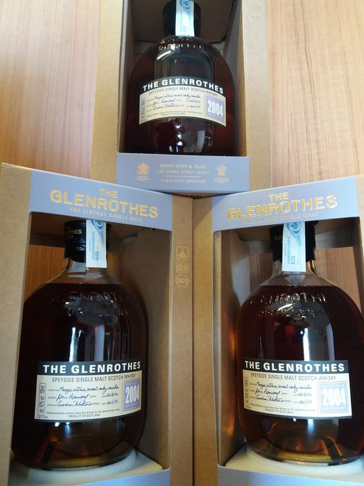 Glenrothes 2004 - Original bottling - b. 2018 - 70cl - 3 bottles