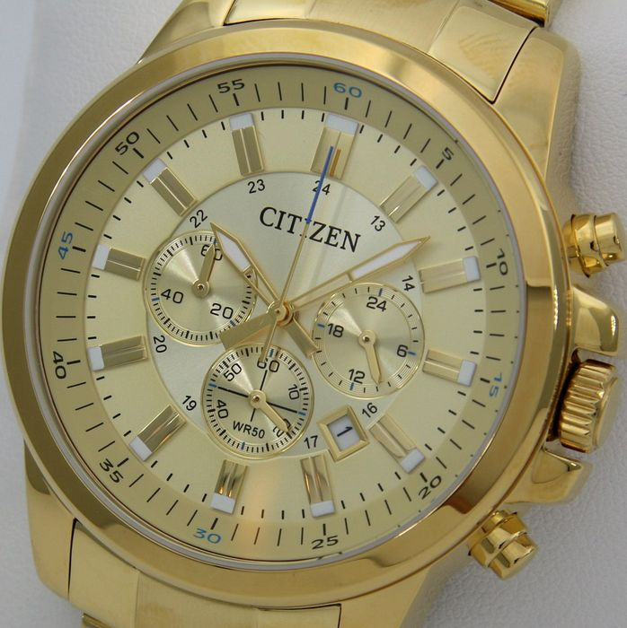 "Citizen - Cronograph ""All Gold"" Big Dial  - - ""NO RESERVE PRICE"" - - Men - 2019"