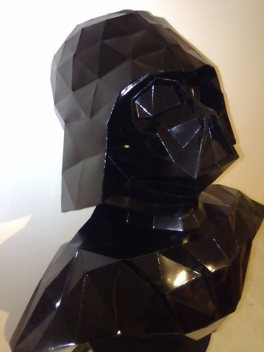 Darth Vader Accurate Helmet Paper Model In 1/1 Scale - by Joey ... | 700x525