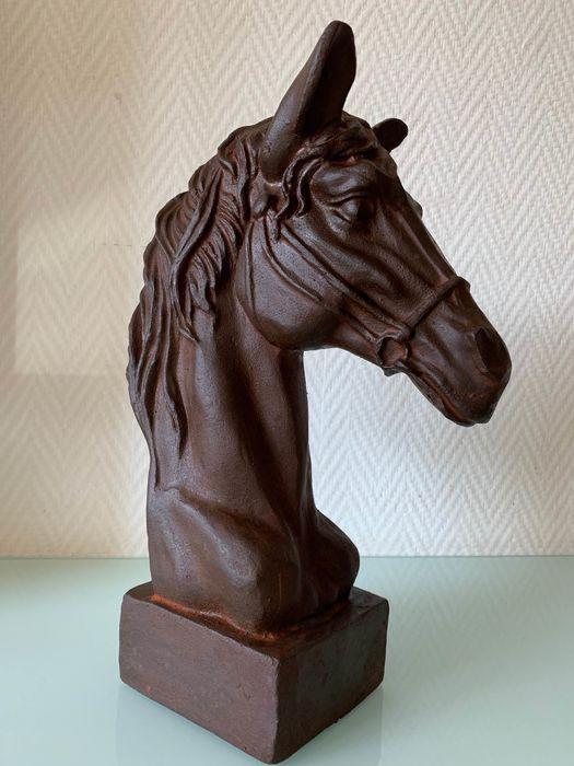Horse head with bridle - Iron (cast/wrought) - recent
