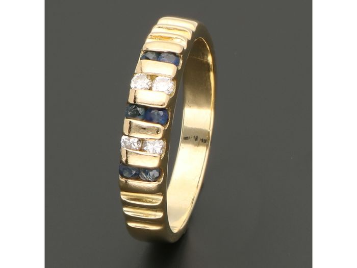 18 kt. Gold - Ring - 0.12 ct Diamond