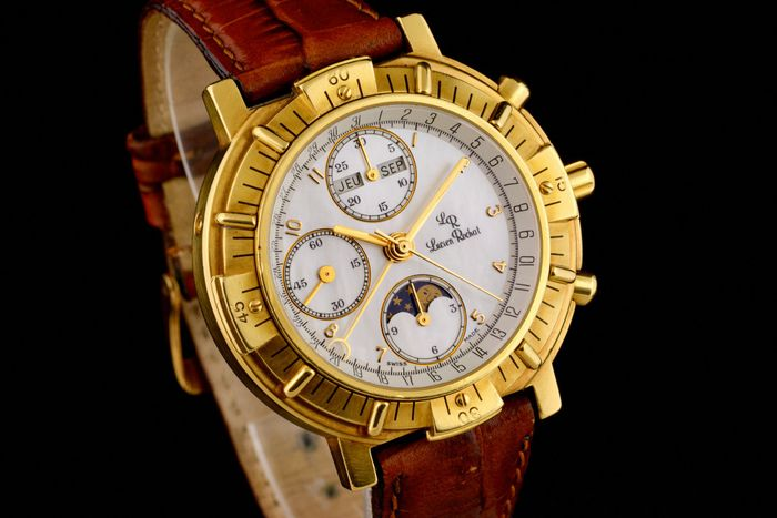 Lucien Rochat - 18K Gold Moonphase Triple Date Mother of Pearl Dial Chronograph - 21 190 041 - Men - 2000-2010