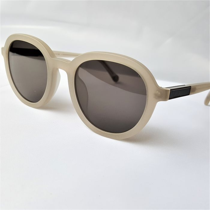 ill.i Optics by Will.i.am - Round Double Skeleton Grey Beige Silver - 2020 - Made in Italy - New Sunglasses