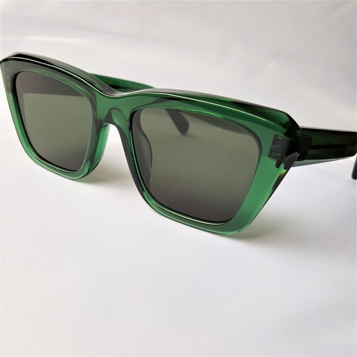 ill.i Optics by Will.i.am - Square Green Gold Double Skeleton - 2020 - Made in Italy - New Sunglasses