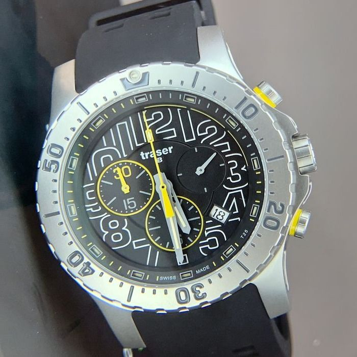 "Traser - P66 Elite Chronograph Watch with Trigalight® Swiss Made - 105858 ""NO RESERVE PRICE"" - Herren - Brand New"