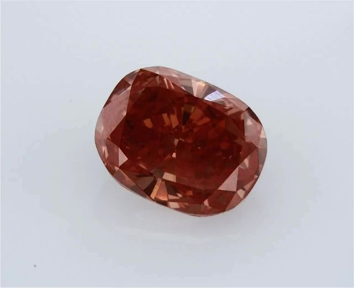 1 pcs Diamant - 1.50 ct - Coussin - fancy deep brownish pink - VS1, GIA CERTIFIED