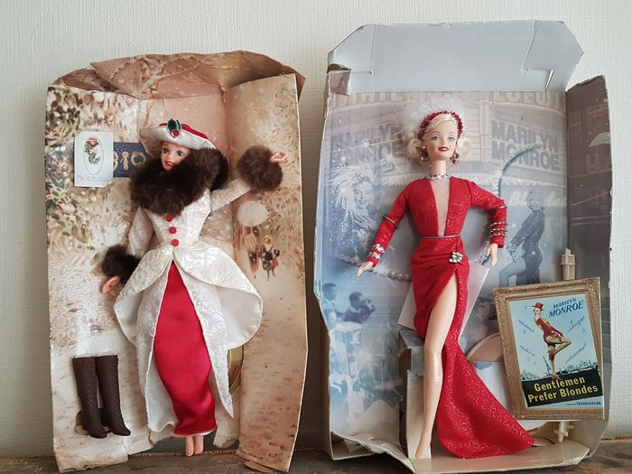 Mattel - 2x Barbie - Marilyn Monroe & Holiday Memories