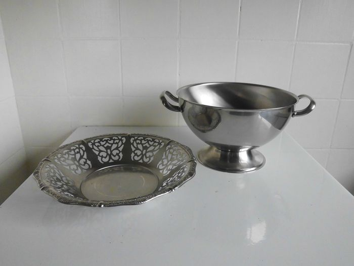 Alfra Alessi - Vintage bowl and bowl - stainless steel