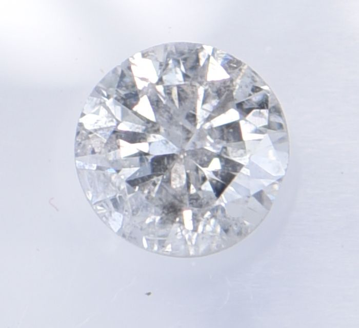 1 pcs Diamante - 0.50 ct - Brillante, Redondo - G - I1     ** No Reserve Price **