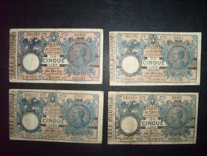 Italie - 47 banknotes - various dates