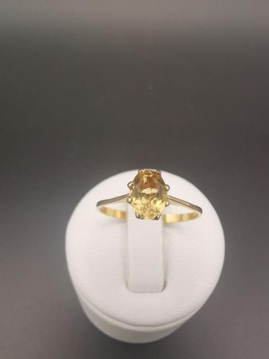 18 kt Gelbgold - Ring - 0.75 ct Citrin