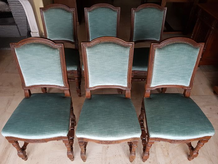 Set stoelen, Serie of six dining chairs (6)