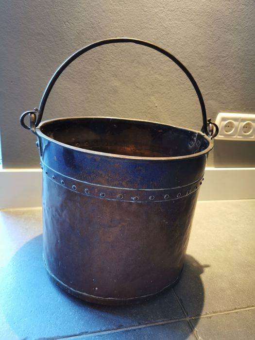 Antique 19th century milk bucket - Koper