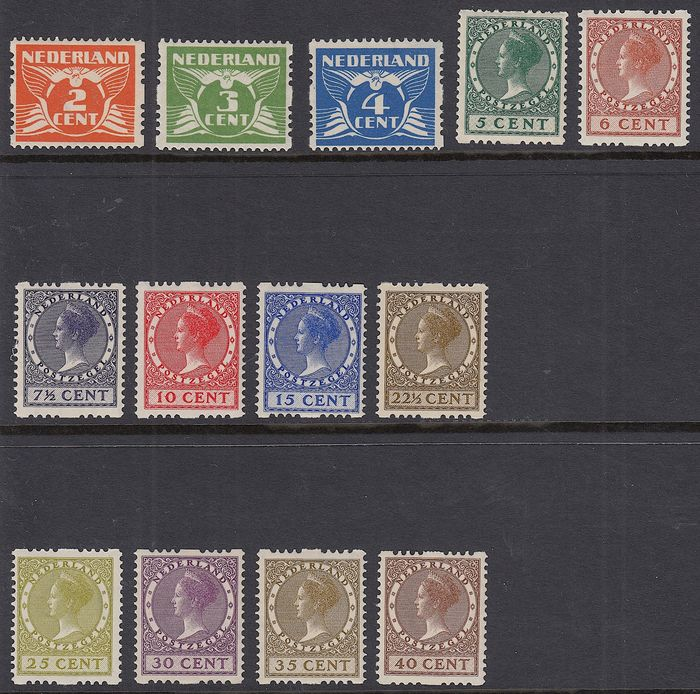 Netherlands 1926 - Two-sided syncopation - NVPH R19/R31