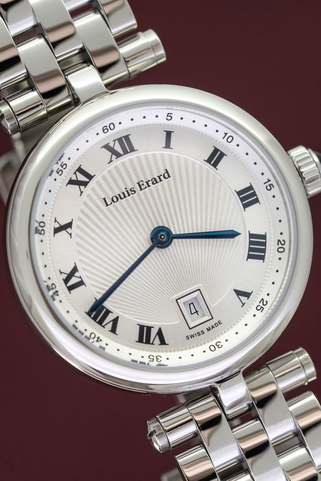 """Louis Erard - Romance Collection Blue Sapphire Cabochon Crown Swiss Made - """"NO RESERVE PRICE"""" 10800AA01.BMA23 - Dames - BRAND NEW"""