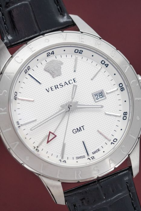 Versace - Universe GMT Stainless Steel Slim Swiss Made - VEBK00918 - Uomo - Brand New