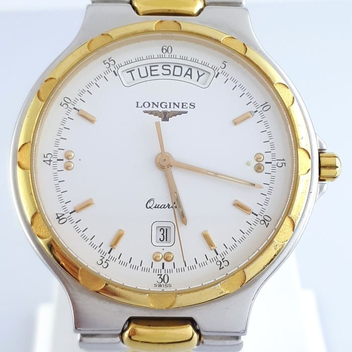 Longines - Conquest Day-Date Gold Plated - L1.615.3 - Homem - 1990-1999