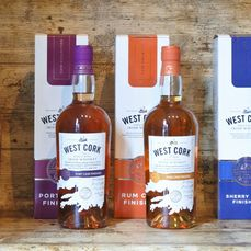 West Cork Virgin Oak Cask - Port Cask - Rum Cask - Sherry Cask - 700 ml - 4 flaschen