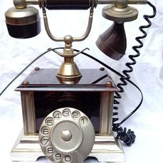 Telephone - Bakelite, Brass, Placated gold 18 K