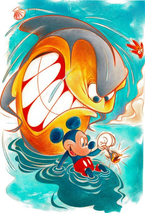 Mickey Mouse in a Bad Place - Signed Giclée A.P. - Jaume Esteve - Limited Edition