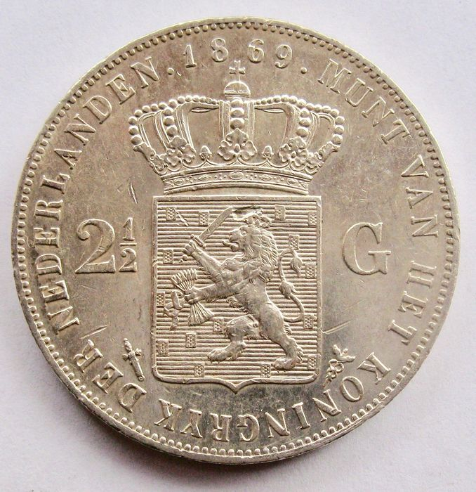 The Netherlands - 2½ Gulden 1869 - Willem III - Silver