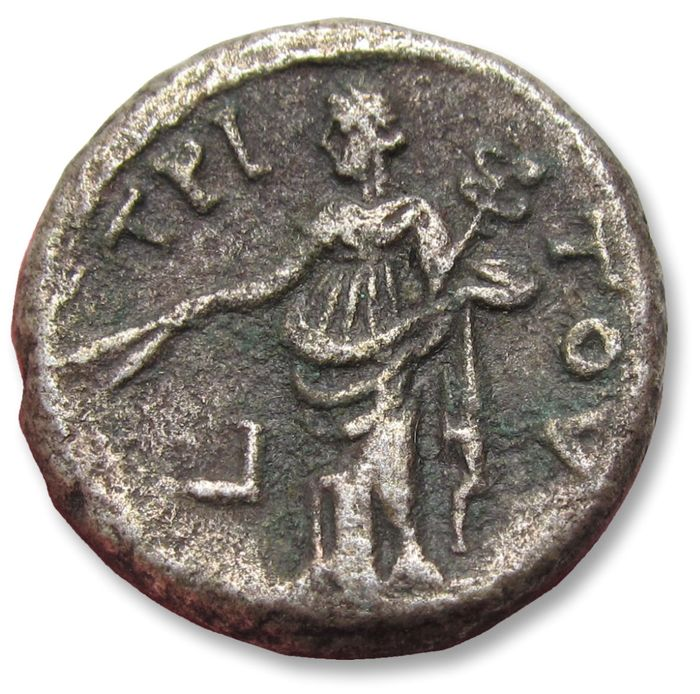 Romeinse Rijk - 23mm BI billon tetradrachm emperor Antoninus Pius - early style portrait - Egypt, Alexandria mint dated RY 3 = 139-140 A.D. - Billon
