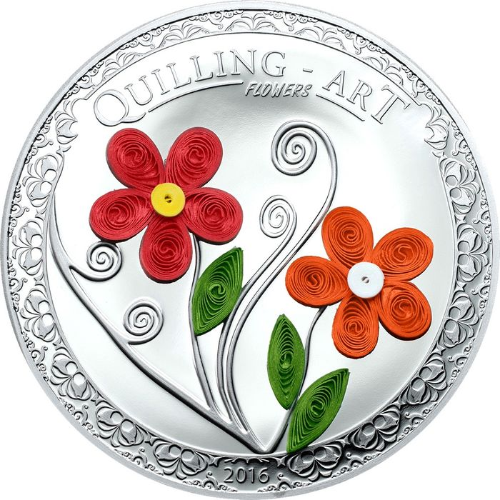 Fiori Quilling.Cook Islands 2 Dollar 2016 Quilling Art Flowers Catawiki