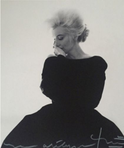 Bert Stern (1929-2013) - Marylin in black dress for Vogue, 1962.