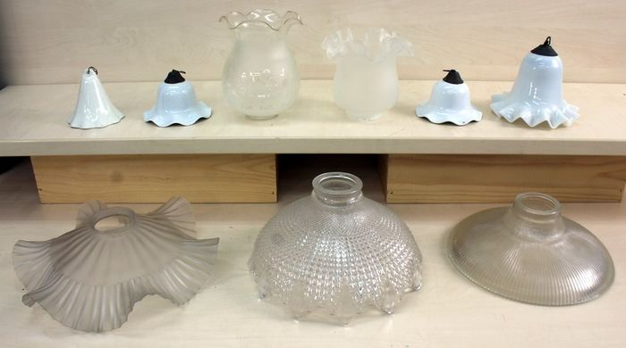 Shade antique glass lamps (9) - Glass