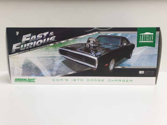 Greenlight - 1:18 - Dodge - Dom's Charger 1970 Fast and The Furious RARE!