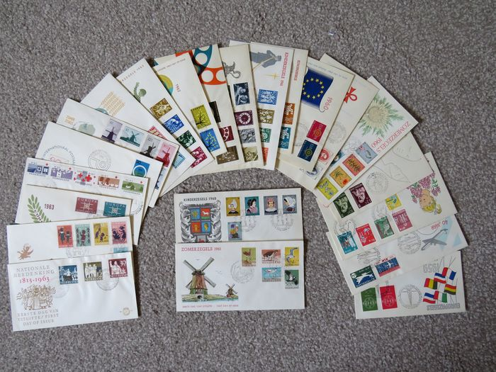 Netherlands 1959/1963 - Collection of FDCs - NVPH E39 t/m E61