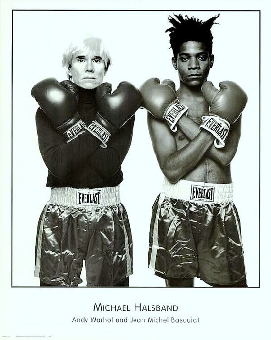 Michael Halsband - Andy Warhol and Jean Michel Basquiat