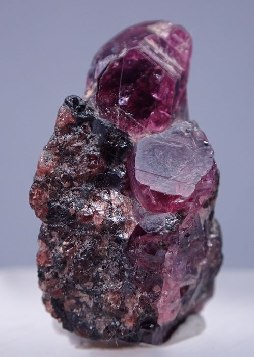 Incredibili cristalli di zaffiro in matrice, non trattati 49ct - 23.76×18.81×14.03 mm - 9.8 g