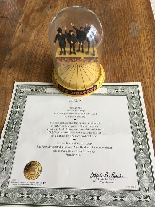Beatles - The Beatles - 'Franklin Mint  'HELP' under Glass Dome with CoA - Opera d'arte / Dipinto - 1996/1