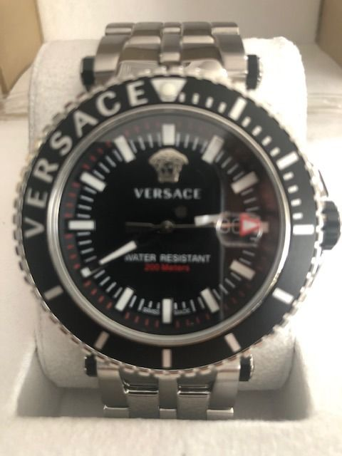 "Versace - V-Race Drive Black Dial Stainless Steel ""NO RESERVE PRICE"" - VEAK00418 - Men - 2011-present"
