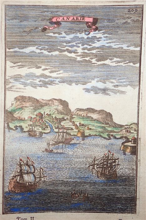 Spain, Gran Canaria, Canary Islands; A. M. Mallet - Canarie - 1681-1700