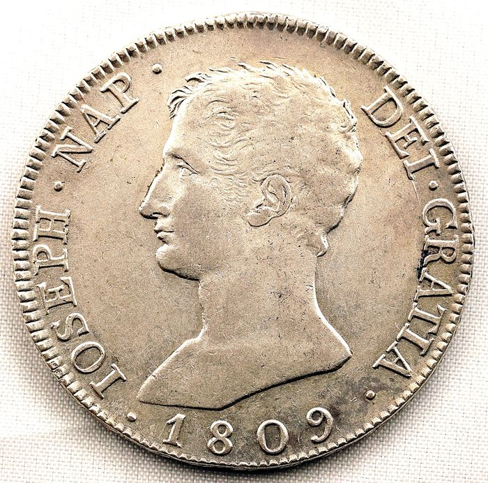Spain - 20 Reales - 1809 - Madrid - Jose Napoleon - Escasa - Silver