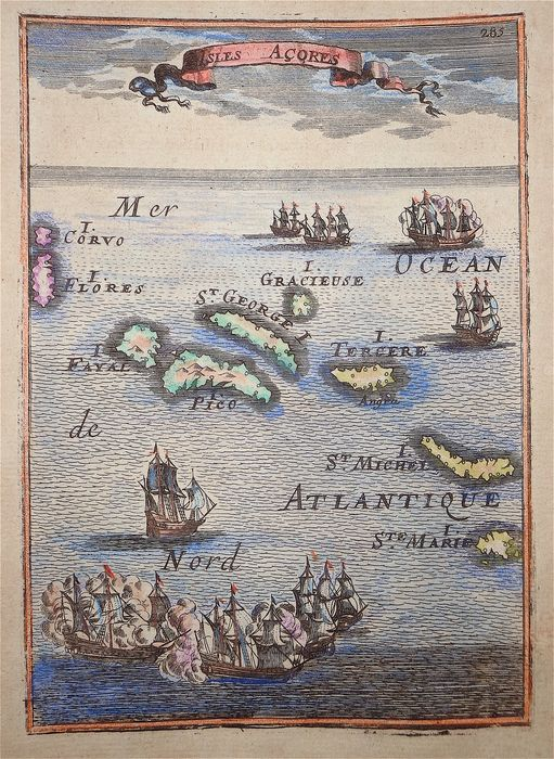 Portugal, Azores; A. M. Mallet - Isles Acores - 1681-1700