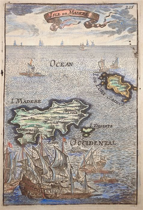 Portugal, Madeira; A. M. Mallet - Isle de Madere - 1681-1700