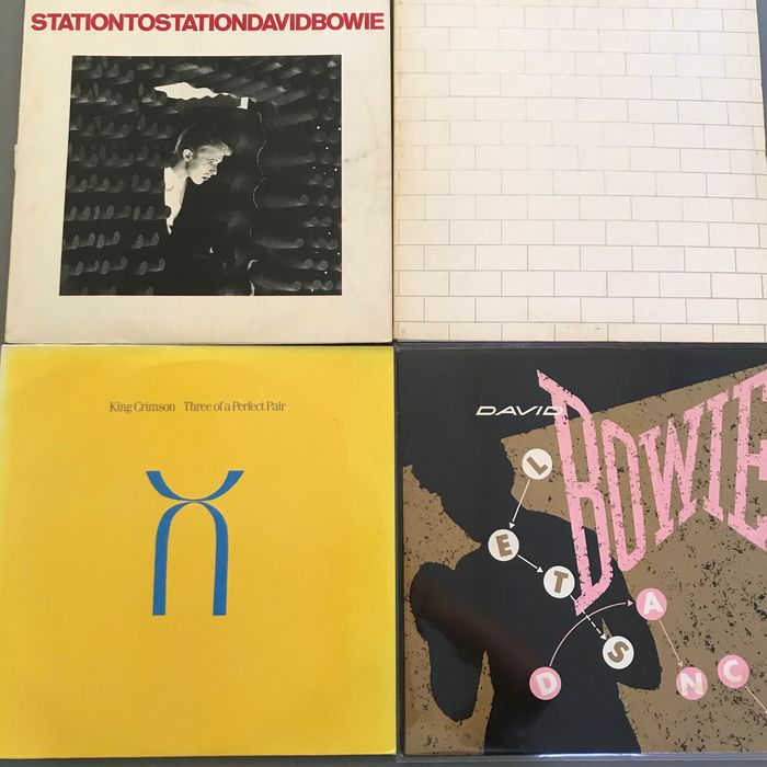 David Bowie, King Crimson, Pink Floyd - Multiple artists - Station to Station, The Wall, Let's Dance, Three of a Perfect pair - Multiple titles - 2xLP Album (double album), LP's - 1976/1984
