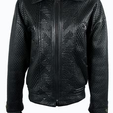 Gianni Versace - Leather jacket - Size: EU 52 (IT 56 - ES/FR 52 - DE/NL 50)