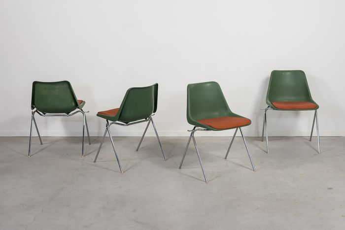 Robin Day - Overman - Set of 4 vintage chairs