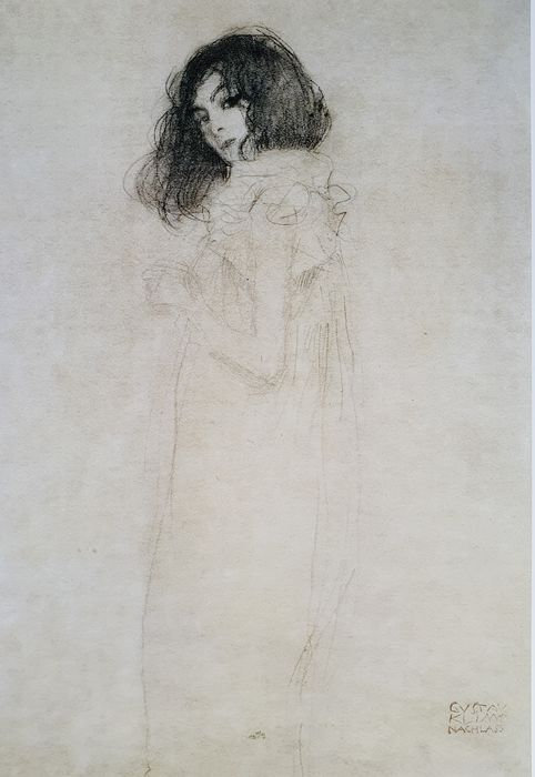 Gustav Klimt (1862-1918) - Portrait of a young woman