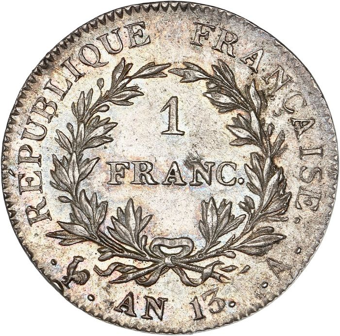 France - Napoléon I - 1 Franc An 13-A (Paris)