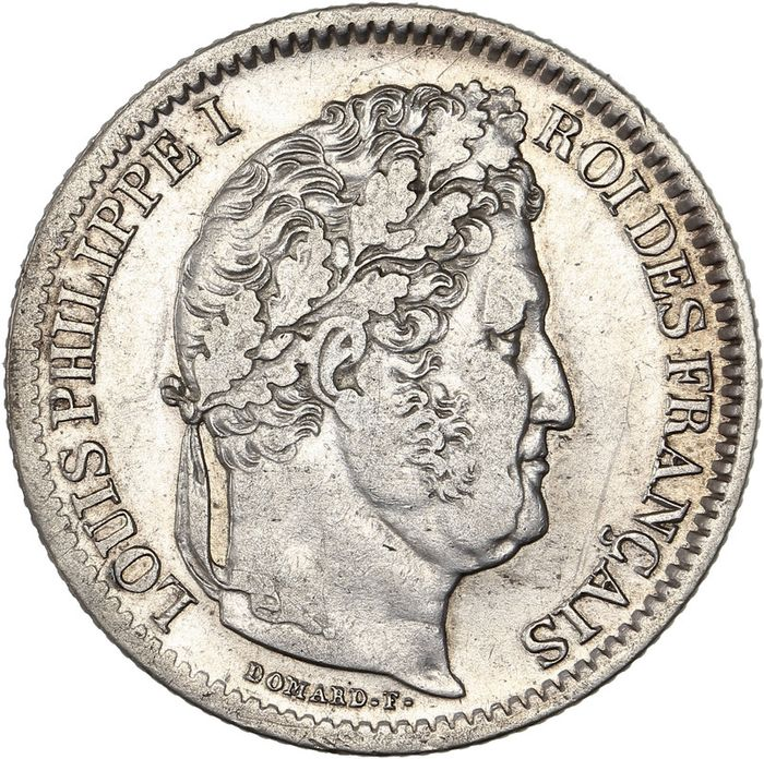 France - Louis Philippe I - 2 Francs 1847-BB (Strasbourg) - Silver